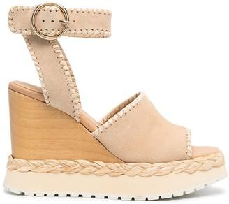 Paloma Barceló Open-Toe Wedge Sandals