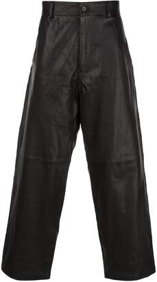 Haider Ackermann baggy leather trousers