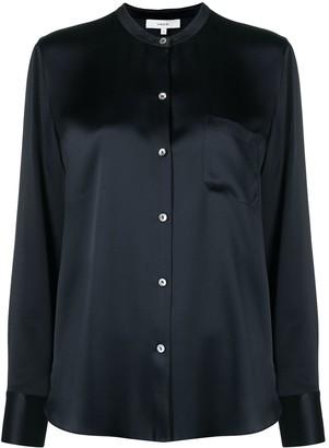 Vince Button-Down Silk Blouse