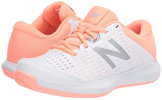 New Balance 696v4 (White/Ginger Pink) Women's Tennis Shoes