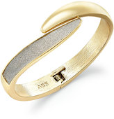 ABS by Allen Schwartz Gold-Tone Glitter Bypass Bangle Bracelet