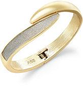 ABS by Allen Schwartz Gold-Tone Glitter Bypass Bangle Bracelet