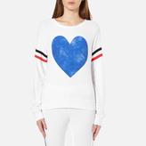 Wildfox Couture Women's Classic Heart Baggy Beach Jumper Clean White