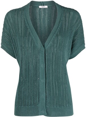 Peserico Short Sleeve Cardigan