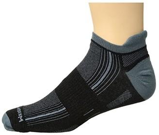 Wrightsock Stride Tab (Black/Grey) Low Cut Socks Shoes