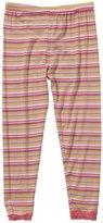 Kickee Pants Print Lace Legging (Toddler/Kid)-Island Stripe-6