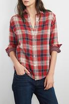 Velvet Double Face Plaid Shirt