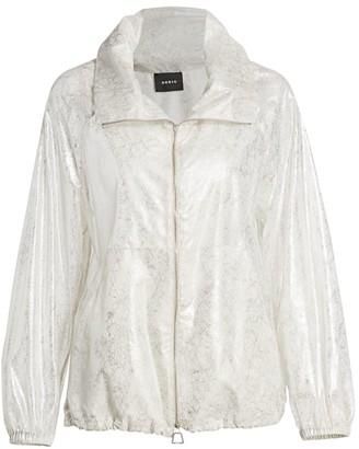 Akris Veronique Lurex Silk Foil Anorak Jacket