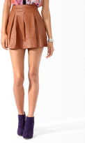 Forever 21 Box Pleated Faux Leather Skirt