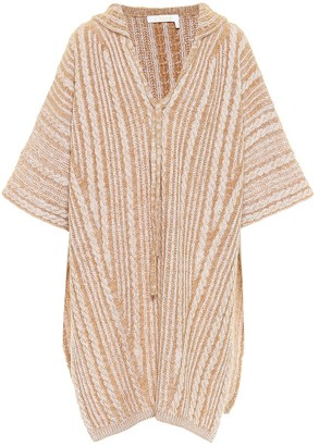 Chloé Cable Knit Hooded Cape