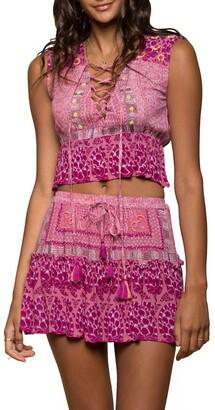 Raga Mariposa Lace-Up Sleeveless Top