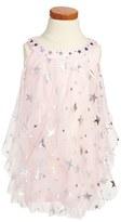 Biscotti 'Starry Eyed' Ruffle Trapeze Dress (Toddler Girls)