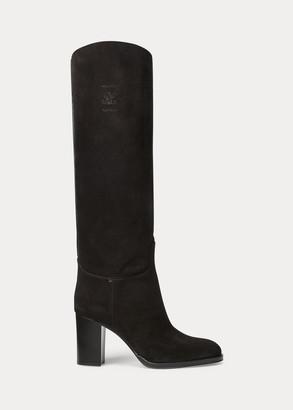 Ralph Lauren Allana Calf-Suede Boot
