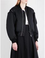 Noir Kei Ninomiya Braided-detail satin bomber jacket