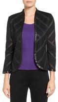 Ming Wang Women's Chevron Stripe Knit Jacket