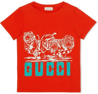 Gucci Red Cotton T-shirt
