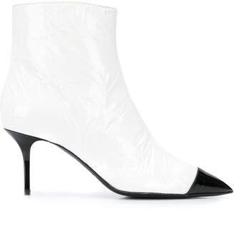 MSGM Two-Tone Pointed Toe Boots