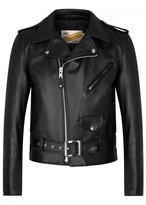 Schott Nyc One Star Black Leather Biker Jacket