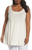 Sejour Plus Size Women's Rib Inset Long Tank