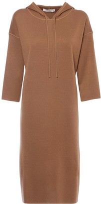 Max Mara Hooded Wool Knit Dress