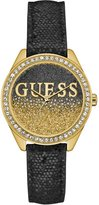 GUESS Black and Gold-Tone Iconic Sparkle Watch