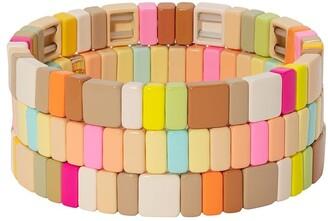 Roxanne Assoulin Neons and Neutrals set of three bracelets