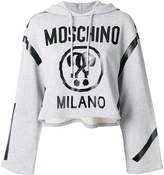 Moschino cropped logo hoodie