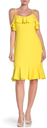 trina Trina Turk Mosey Ruffled Sleeveless Flounce Dress