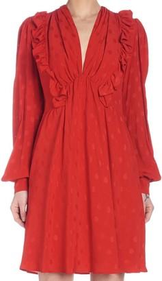 MSGM Ruffled Long Sleeve Dress