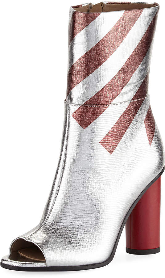 Anya Hindmarch Metallic Striped High Boot