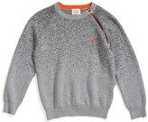 Armani Junior Boy's Zip Crewneck Sweater