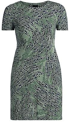 NIC+ZOE, Plus Size Leaf Direction T-Shirt Dress