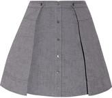 Alexander Wang Pleated cotton mini skirt