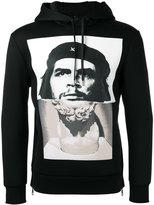 Neil Barrett Che Guevara statue print hoodie - men - Viscose - XS