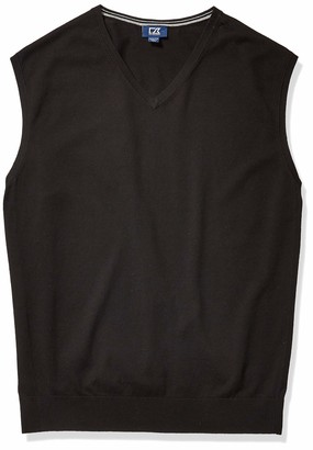 Cutter & Buck Men's Big and Tall B&t Machine Washable Lakemont V-Neck Sweater Vest