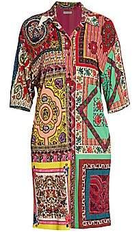 Etro Women's Mosaic Tile-Print Shirtdress
