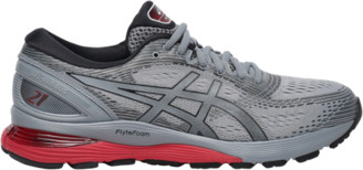 Asics GEL-Nimbus 21 Running Shoes - Sheet Rock / Black