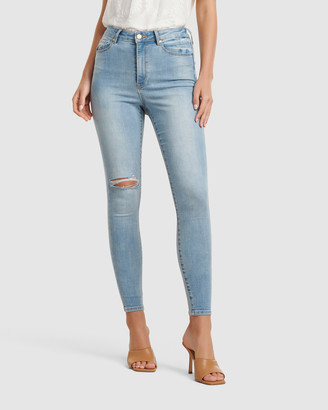 Forever New Zoe Mid Rise Ankle Grazer Jeans