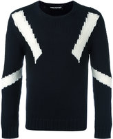 Neil Barrett geometric instarsia knit jumper - men - Wool - S