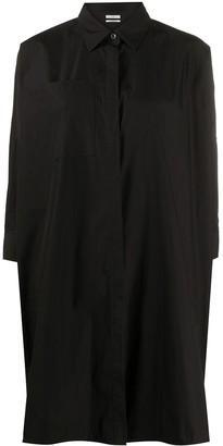 Co Patch-Pocket Longline Shirt