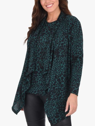 Live Unlimited Curve Burn Out Cardigan, Green/Multi