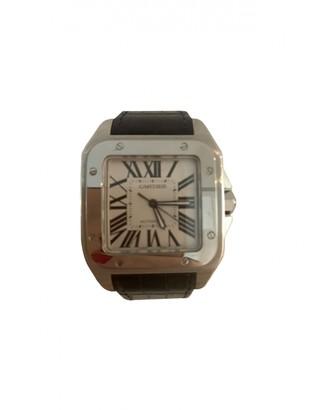 Cartier Santos 100 Grey Steel Watches