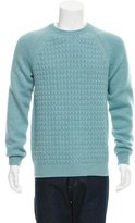 Salvatore Ferragamo Cashmere Rib Knit-Trimmed Sweater w/ Tags