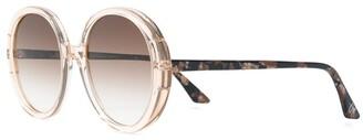 Emmanuelle Khanh Gradient Round Sunglasses