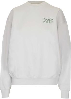 Sporty & Rich Fun Logo Print Crewneck Sweatshirt