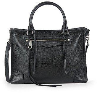 Rebecca Minkoff Regan Pebbled Leather Satchel