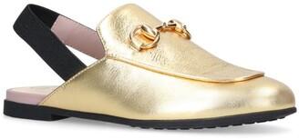 Gucci Kids Metallic Princetown Loafers
