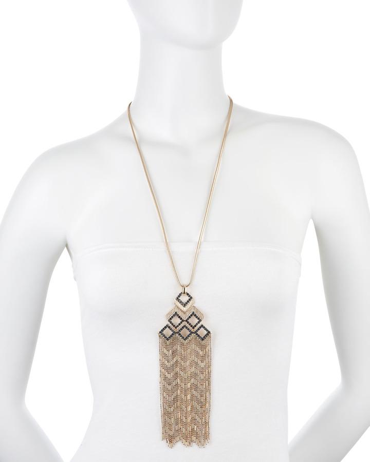 Fragments for Neiman Marcus Rhinestone & Tassel Necklace