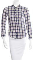 R 13 Plaid Button-Up Top w/ Tags