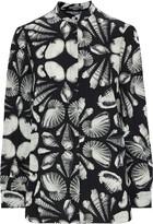 Alexander McQueen Printed Silk-chiffon Shirt
